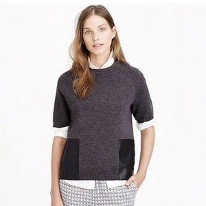 J. Crew Merino Wool Leather Pocket Tee Swe…